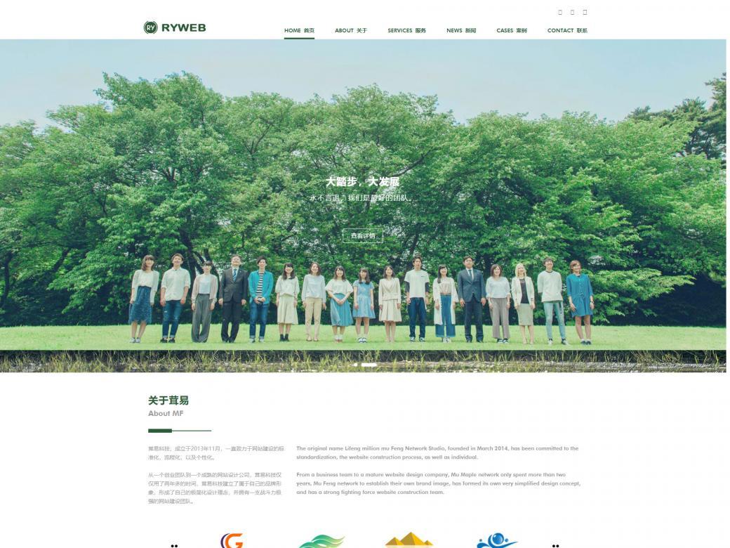绿色简约企业高端网站设计