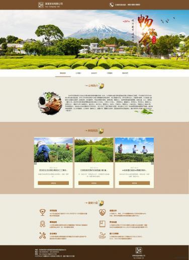 茶叶公司网站模板