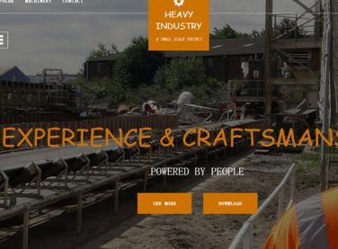 建筑工地展示网站模板